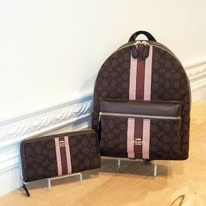 NWT Coach Charlie Backpack & Wallet